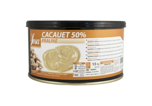 PRALINÉ PASTA ARAŠIDI 50/50 SOSA - 1,2 kg